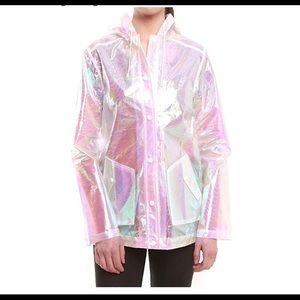 Iridescent raincoat size M beautiful